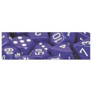 Opaque Polyhedral zehn W10 Sets Purple white