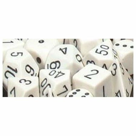 Opaque Polyhedral zehn W10 Sets White black