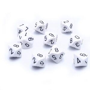 Opaque Polyhedral zehn W10 Sets White black