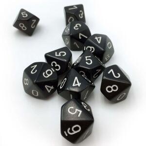 Opqaue Polyhedral zehn W10 Sets Black white