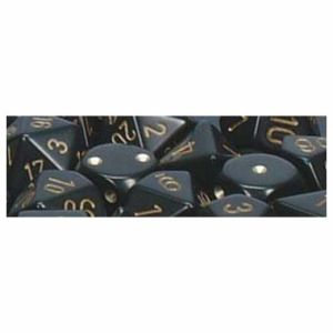 Opaque Polyhedral zehn W10 Sets Black gold