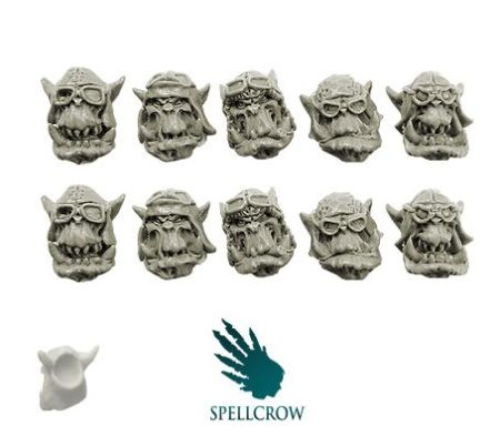 Orcs Storm Flying Squadron Heads ver. 1