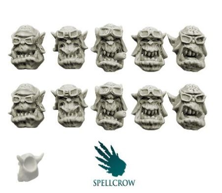 Orcs Storm Flying Squadron Heads ver. 2