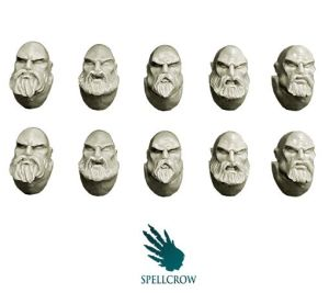 Space Knights Heads with Beards