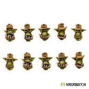 """Orc """"Afrika Korps"""" Heads (10)"""
