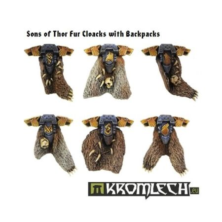 Sons of Thor Fur Cloaks with Backpacks (6)