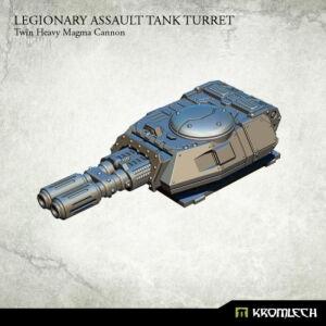 Legionary Assault Tank Turret: Twin Heavy Magma Cannon (1)