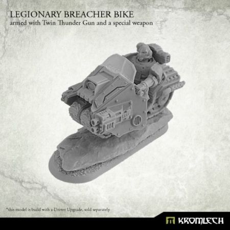 Legionary Breacher Bike (1) armed with twin thunder gun and gravity distorter