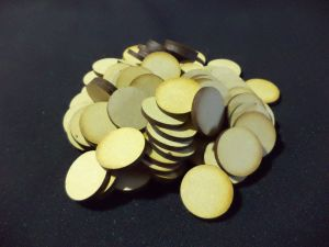 80x 25mm Round Bases