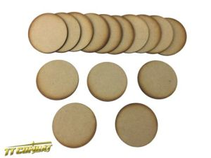 15x 60mm Round Bases
