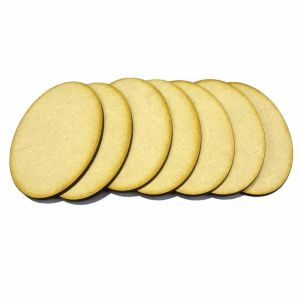 7x 105mm x 70mm Oval Bases