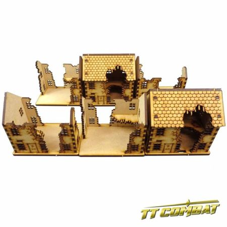 15mm Ruined Town House Set