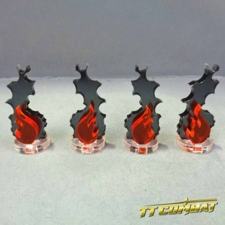 Wound Markers - Fire Markers (4)