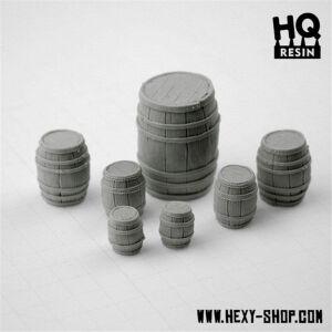 Wooden Barrels Set