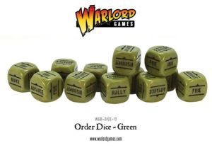 Bolt Action Orders Dice Green(12)