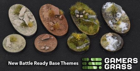 Round Arid Steppe Bases 50mm (x3)