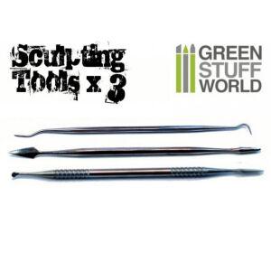 3x Modellierwerkzeug Set