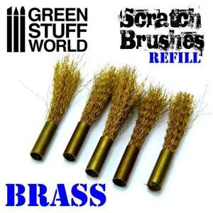 Scratch Brush Set Refill – Brass