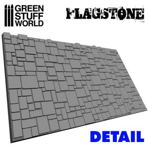 Strukturwalze - Steinfliesenboden
