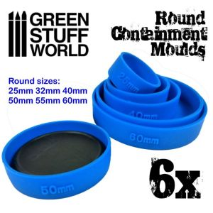 6x Auffangformen für Sockel - Runde