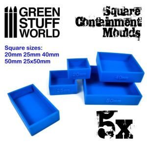 5x Auffangformen für Sockel - Quadratische