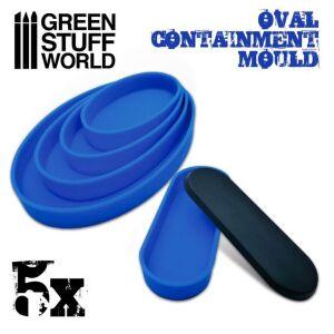 5x Auffangformen für Sockel - Oval