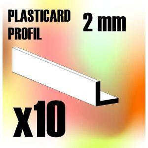 ABS Plasticard - Profile ANGLE-L 2 mm