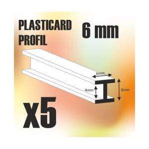ABS Plasticard - Profile H-Beam Columns 6mm