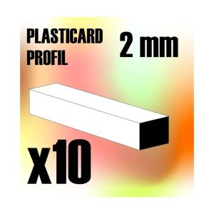 ABS Plasticard - Profile SQUARED ROD 2 mm
