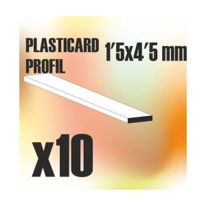 ABS Plasticard - Profile PLAIN 4.5mm
