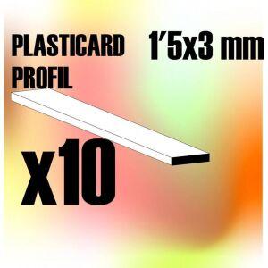 ABS Plasticard - Profile PLAIN 3 mm