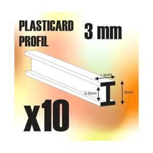 ABS Plasticard - Profile DOUBLE-T 3 mm