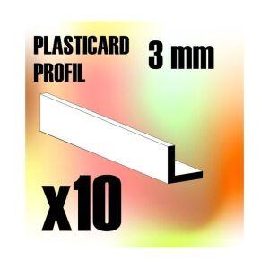 ABS Plasticard - Profile ANGLE-L 3 mm