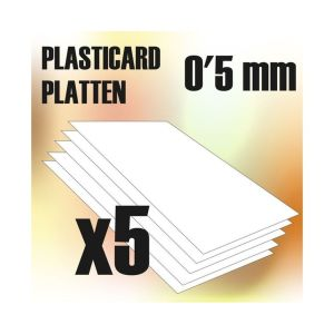 ABS Plasticard A4 - 05 mm COMBOx5 sheets