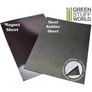 Selbstklebende Magnetfolien und Gummi-Stahl Folien