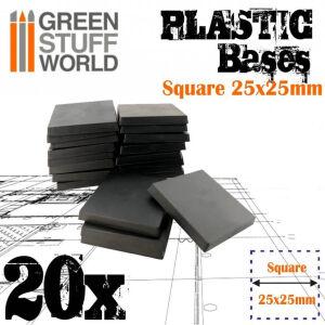 25x25 mm quadratische Kunststoffbasen