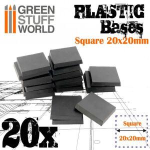 20x20 mm quadratische Kunststoffbasen