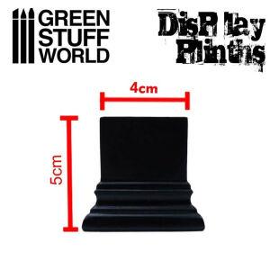 Quadratischer Ausstellungssockel 4x4 cm - Schwarz