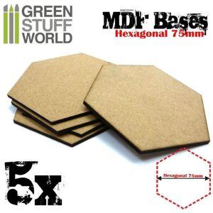 75 mm hexagonale MDF Basen