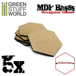 50 mm hexagonale MDF Basen