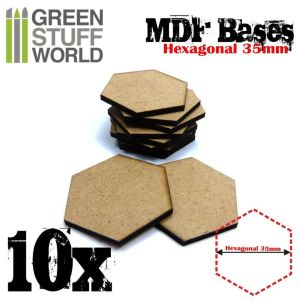 35 mm hexagonale MDF Basen