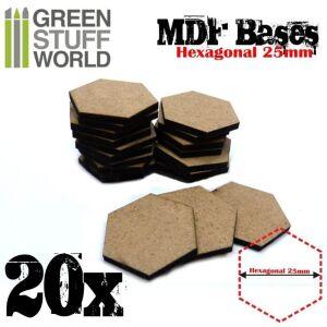 25 mm hexagonale MDF Basen