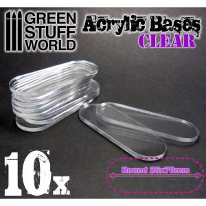 25x70mm oval und transparent Acryl Basen