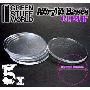 55 mm runde und transparent Acryl Basen