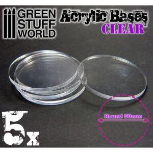 50 mm runde und transparent Acryl Basen