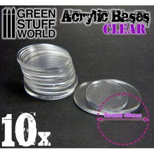 40 mm runde und transparent Acryl Basen