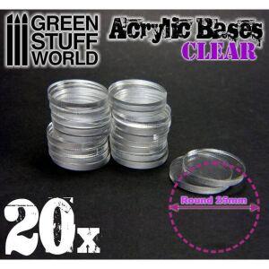 25 mm runde und transparent Acryl Basen