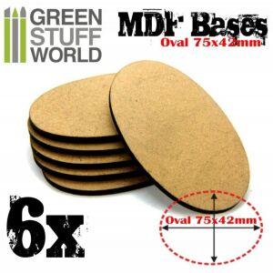 75x42mm AOS oval MDF Basen