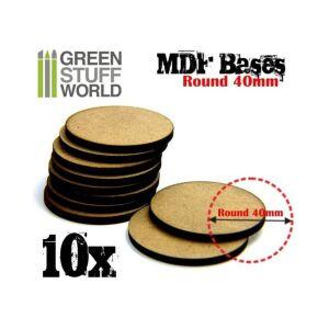 40 mm runde MDF Basen