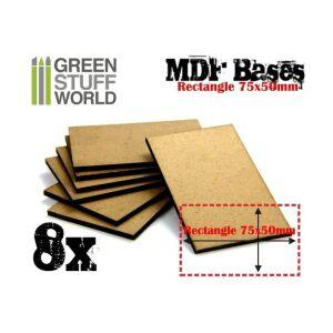 75x50m rechteckige MDF Basen